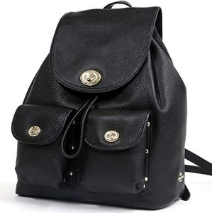 Coach Black Turnlock Rucksack
